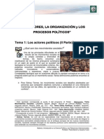 Lectura 2 - Los Actores, La Organización y Los Procesos Políticos