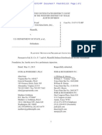 Defense Distributed v. U.S. Department of State Pltfs Mot for PI