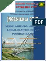 MODELAMIENTO-ANALISIS LINEAL ELASTICO DE UN PORTICO PLANO