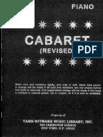 Cabaret Piano Score