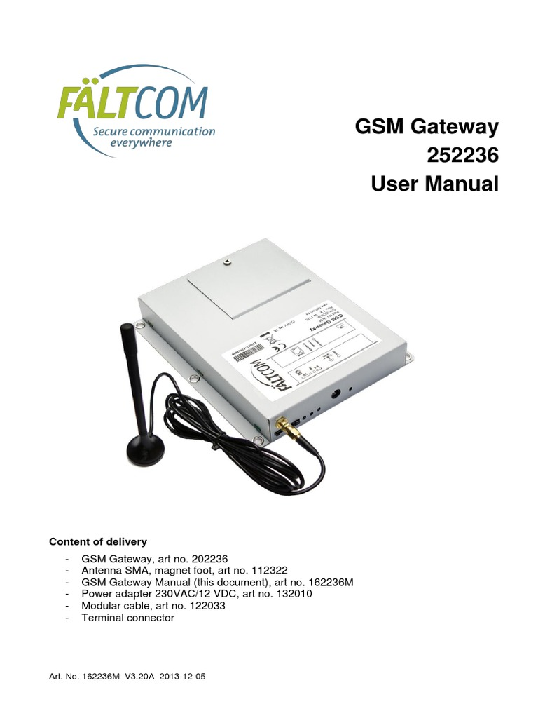 GSM Gateway 252236 | Short Message Service | Subscriber Identity Module