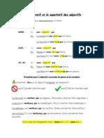 le comparatif et le superlatif des adjectifs