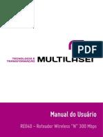 Manual Roteador RE040