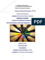 EDI 2014 - Interculturalidad y Diversidad Linguistica