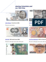 Banknotes Featuring Scientists and Mathematicians Part 1