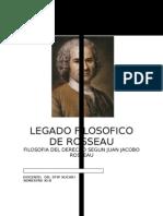 Legado Filosofico de Rousseau
