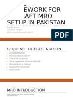 Legal Framework for MRO setup in Pakistan