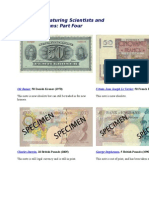 Banknotes Featuring Scientists and Mathematicians - Part 4