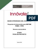 Bases Integradas de Concurso 9na Convocatoria PIMEN PIPEI. Feb-2015