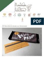 DIY Páscoa_ Barra de Chocolate Com Ticket Premiado _ Namorada Criativa - Por Chaiene Morais