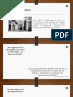 La Psicología en El Perú