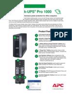 APC Back Ups Pro 1 Kva