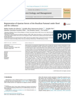 Regeneration of Riparian Forests of the Brazilian Pantanal Under Flood and Fire Influence