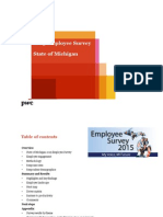 Michigan 2015 State Employee Survey