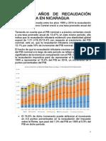 CASI 20 AÑOS DE RECAUDACION TRIBUTARIA EN NICARAGUA
