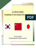 Comparación de Cultura Asiaticas Orientales