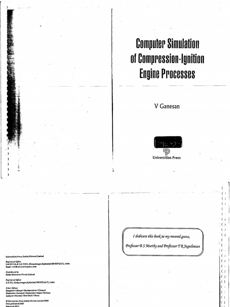 Computer simulation of compression ignition engine processes v computer simulation of compression ignition engine processes v ganesan bnpdf thermodynamics branches of thermodynamics fandeluxe Gallery