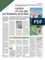 11-05-2015 - Gestión - Economía Dejaría de Crecer a Causa de El Niño