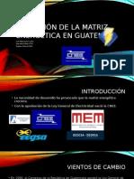 Evolución de La Matriz Energética en Guatemala