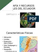 Geografía y recursos naturales de ecuador