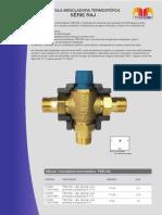Válvula Mescladora Termostática Série RAJ - Dados técnicos.pdf