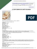 FATIA HOLANDESA COM CREME DE CAFÉ FOLHADO
