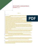 Sistema Integrado de Gestión Ambiental 14001