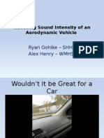 reducing sound pressure of an aerodynamic vehicle