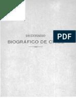 Diccionario Biografico de Chile Tomo I 6ta Edicion