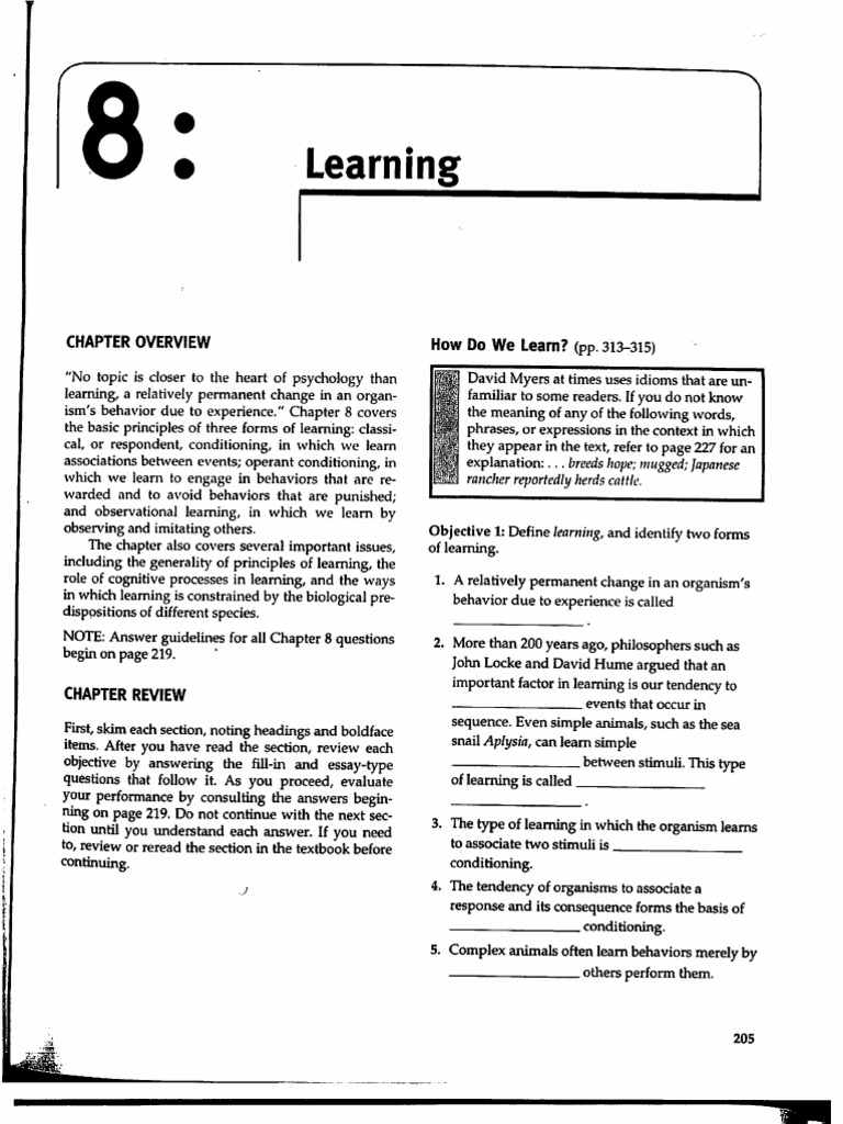 chapter 8 cognition myers psychology 8e rh scribd com psychology chapter 7 learning study guide answers ap psychology learning study guide answers