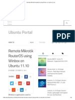 Remote Mikrotik RouterOS Using Winbox on Ubuntu 11