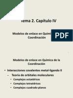 Tema 2. Capitulo IV. Orbitales Moleculares. 2014