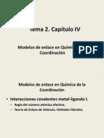 Tema 2. Capitulo IV. TEV. Orbitales Hibridos. 2014