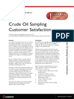 Crude Oil Sampling Customer Satisfaction