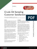 Crude Oil Sampling Customer Satisfaction