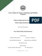 Wave Maker Design and Preformance