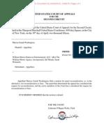 Washington v. William Morris Endeavor Entertainment et al. (14-4328) -- 2nd Cir. Order Denying Motion for Reconsideration En Banc Without Explanation [April 30, 2015]