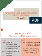 Tema 1. Periodización y Conceptos en La Época Moderna