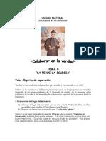 Tema 6 La Fe de La Iglesia
