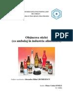 Obtinerea Sticlei-Ambalaj in Industria Alimentara
