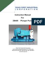 TFI Instruction Manual ZB400II- Catalogo de Repuestos