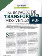 El impacto de transformar Miss Venezuela