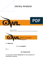 Literary Analysis OWL