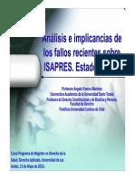 Recientes Fallos Sobre Isapres Para Uandes 13-5-2013