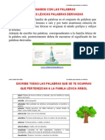 Lectoescritura FAMILIAS LÉXICAS Altas Capacidades 1