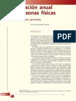 Declaración Anual de PERSONAS FÍSICAS. Consideraciones Generales