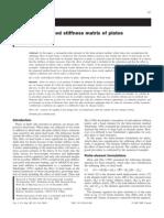 Load-Induced Stiffness Matrix of Plates