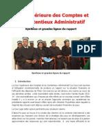 Rapport de Synthese des catastrophes de Laurent Lamothe (CSCCA)