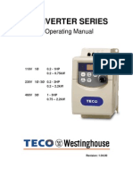 Teco VFD Operating Manual