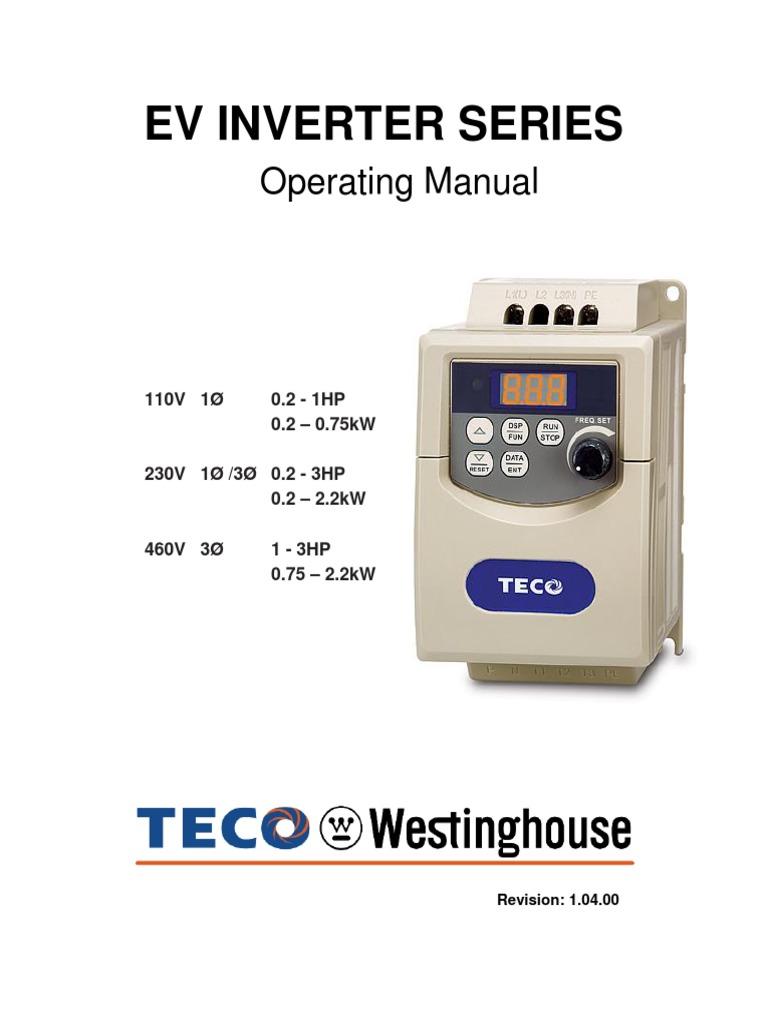 Stupendous Teco Vfd Operating Manual Power Inverter Fuse Electrical Wiring Digital Resources Helishebarightsorg
